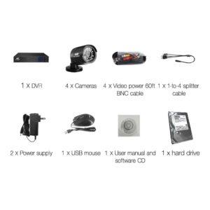 CCTV 8C 4B BK 2T 03 300x300 - UL-Tech CCTV Security System 2TB 8CH DVR 1080P 4 Camera Sets