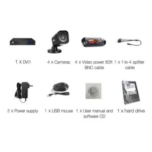 CCTV 8C 4S BK 2T 03 300x300 - UL-Tech CCTV Security System 2TB 8CH DVR 1080P 4 Camera Sets