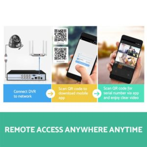 CCTV 8C 8D BK 2T 05 300x300 - UL-Tech CCTV Security System 2TB 8CH DVR 1080P 8 Camera Sets
