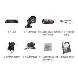 CCTV 8C 8S BK 2T 03 300x300 - UL-Tech CCTV Security System 2TB 8CH DVR 1080P 8 Camera Sets