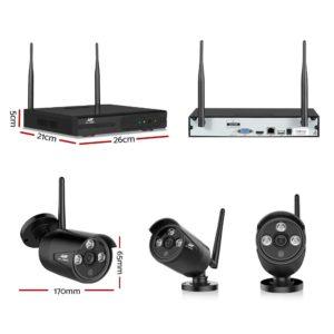 CCTV WF CLA 4C 2B 2T 01 300x300 - UL-Tech CCTV Wireless Security System 2TB 4CH NVR 1080P 2 Camera Sets