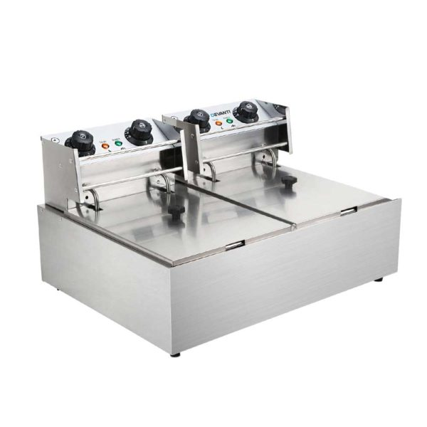 CDF D4C DOUBLE 02 600x600 - 5 Star Chef Commercial Electric Twin Deep Fryer - Silver