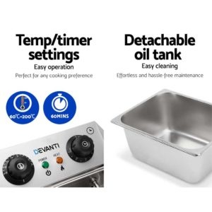 CDF D4C DOUBLE 05 300x300 - 5 Star Chef Commercial Electric Twin Deep Fryer - Silver