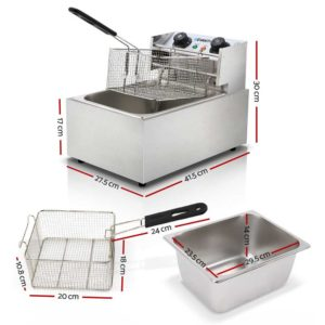 CDF D4C SINGLE 01 300x300 - 5 Star Chef Commercial Electric Single Deep Fryer - Silver