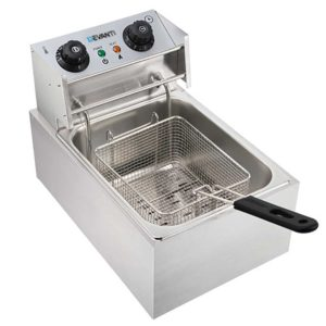 CDF D4C SINGLE 02 300x300 - 5 Star Chef Commercial Electric Single Deep Fryer - Silver