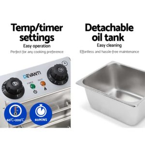CDF D4C SINGLE 05 300x300 - 5 Star Chef Commercial Electric Single Deep Fryer - Silver