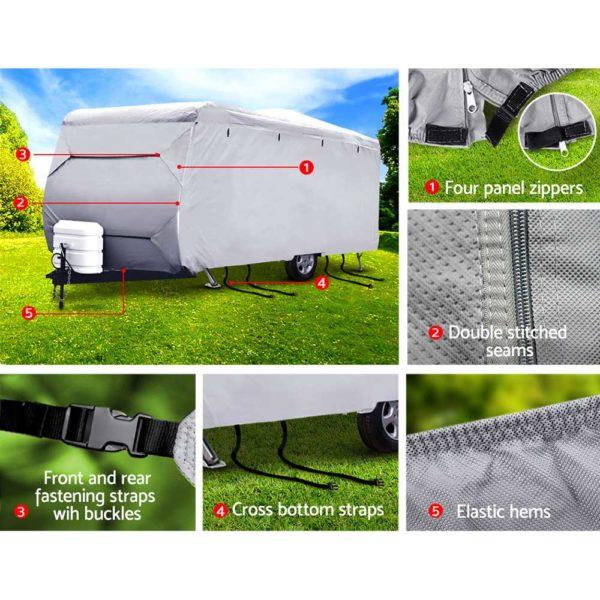 cover cv dcs s 05 600x600 - Weisshorn 16-18ft Caravan Cover Campervan 4 Layer UV Waterproof