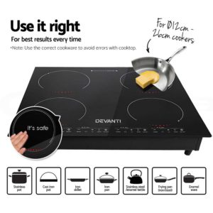 CT IN 800 04 300x300 - Devanti Induction Cooktop 60cm Electric Ceramic Cooker 4 Burner Stove