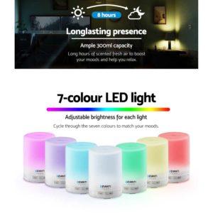 diff 205 wh 04 300x300 - DEVANTi Aroma Diffuser Air Humidifier Night Light White 300ml
