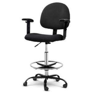 OCHAIR G RING 07A BK 00 1 300x300 - Artiss Office Chair Veer Drafting Stool Fabric Chairs Adjustable Armrest Black