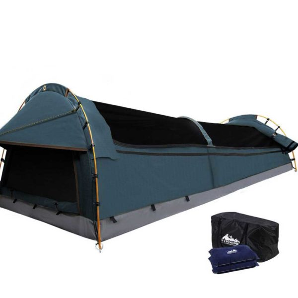 SWAG DOU GS NA 00 600x600 - Weisshorn Double Swag Camping Swag Canvas Tent - Navy