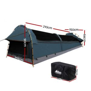 SWAG DOU GS NA 01 300x300 - Weisshorn Double Swag Camping Swag Canvas Tent - Navy