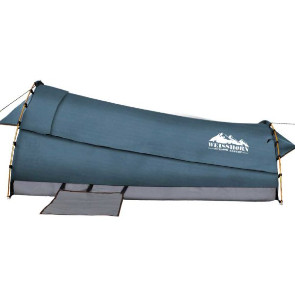 SWAG DOU GS NA 02 600x600 - Weisshorn Double Swag Camping Swag Canvas Tent - Navy