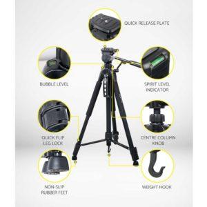 TP WT3750BK 03 300x300 - Weifeng 160CM Professional Camera Tripod