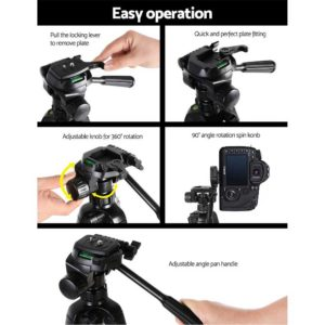 TP WT3750BK 04 300x300 - Weifeng 160CM Professional Camera Tripod
