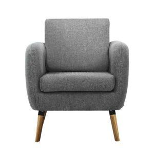 UPHO C SOHO OTM GY 02 300x300 - Artiss Lounge Chair Armchair with Ottoman Tub Accent Sofa Linen Fabric Grey
