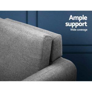 UPHO C SOHO OTM GY 03 300x300 - Artiss Lounge Chair Armchair with Ottoman Tub Accent Sofa Linen Fabric Grey