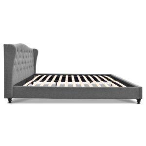 BFRAME E PIER Q GY AB 03 300x300 - Artiss Queen Size Wooden Upholstered Bed Frame Headborad - Grey