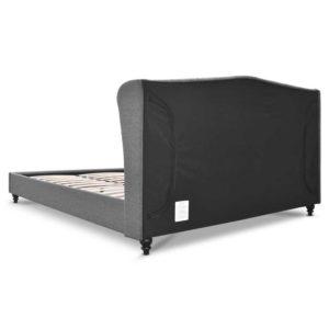 BFRAME E PIER Q GY AB 04 300x300 - Artiss Queen Size Wooden Upholstered Bed Frame Headborad - Grey