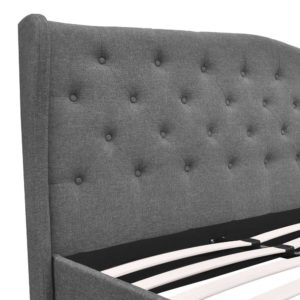 BFRAME E PIER Q GY AB 05 300x300 - Artiss Queen Size Wooden Upholstered Bed Frame Headborad - Grey