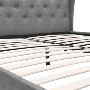 BFRAME E PIER Q GY AB 09 300x300 - Artiss Queen Size Wooden Upholstered Bed Frame Headborad - Grey