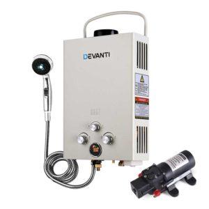 GWH LPG 8L SW BG DI PUMP 00 300x300 - Devanti Outdoor Portable LPG Gas Hot Water Heater Shower Head 12V Water Pump Beige