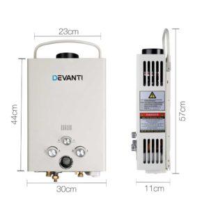 GWH LPG 8L SW BG DI PUMP 01 300x300 - Devanti Outdoor Portable LPG Gas Hot Water Heater Shower Head 12V Water Pump Beige