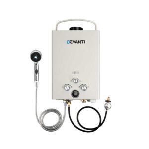 GWH LPG 8L SW BG DI PUMP 02 300x300 - Devanti Outdoor Portable LPG Gas Hot Water Heater Shower Head 12V Water Pump Beige