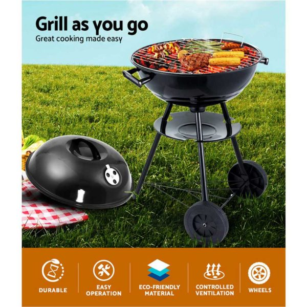 BBQ AGRILL ST REBK 02 600x600 - Grillz Charcoal BBQ Smoker Drill Outdoor Camping Patio Wood Barbeque Steel Oven