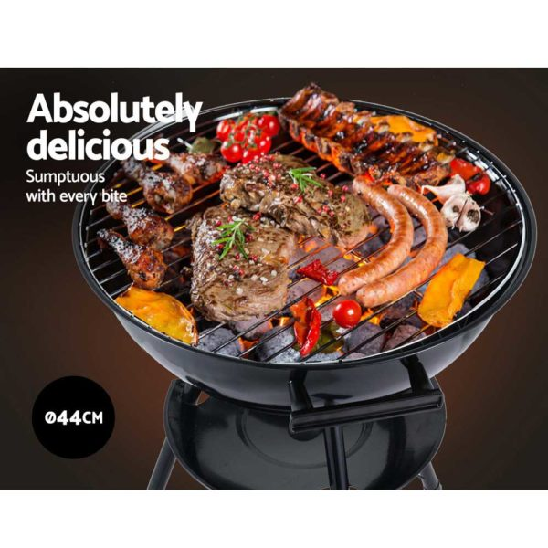 BBQ AGRILL ST REBK 03 600x600 - Grillz Charcoal BBQ Smoker Drill Outdoor Camping Patio Wood Barbeque Steel Oven
