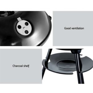 BBQ AGRILL ST REBK 06 300x300 - Grillz Charcoal BBQ Smoker Drill Outdoor Camping Patio Wood Barbeque Steel Oven
