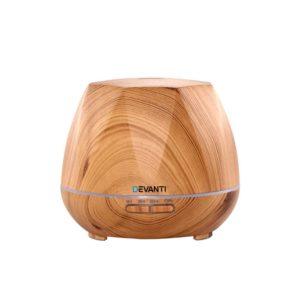 DIFF 1533 LW 00 300x300 - Devanti Ultrasonic Aroma Aromatherapy Diffuser Oil Electric LED Air Humidifier 400ml Light Wood