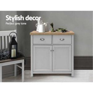 FURN F MED2 SB GY AB 02 300x300 - Artiss MEDI Sideboard Buffet Storage Cabinet Cupboard Drawer Dresser Table Grey