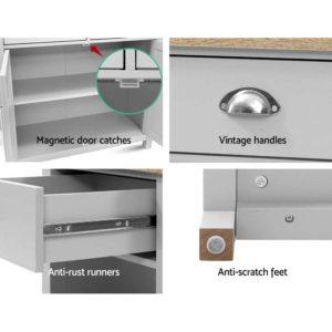FURN F MED2 SB GY AB 04 300x300 - Artiss MEDI Sideboard Buffet Storage Cabinet Cupboard Drawer Dresser Table Grey