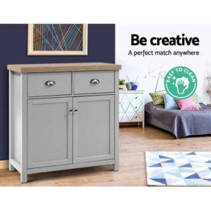 FURN F MED2 SB GY AB 05 300x300 - Artiss MEDI Sideboard Buffet Storage Cabinet Cupboard Drawer Dresser Table Grey