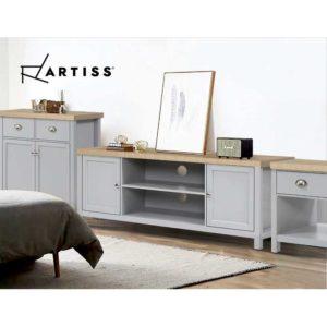 FURN F MED2 SB GY AB 06 300x300 - Artiss MEDI Sideboard Buffet Storage Cabinet Cupboard Drawer Dresser Table Grey