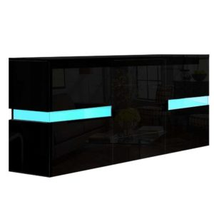 FURNI L LED SB01 BK ABC 00 300x300 - Artiss Buffet Sideboard Cabinet High Gloss Storage Cupboard Doors Drawer RGB LED
