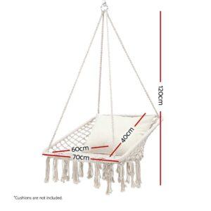 HM CHAIR HAYTI CREAM 01 300x300 - Gardeon Camping Hammock Chair Outdoor Hanging Rope Portable Swing Hammocks Cream