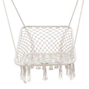 HM CHAIR HAYTI CREAM 02 300x300 - Gardeon Camping Hammock Chair Outdoor Hanging Rope Portable Swing Hammocks Cream