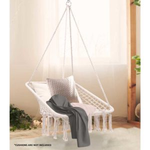 HM CHAIR HAYTI CREAM 03 300x300 - Gardeon Camping Hammock Chair Outdoor Hanging Rope Portable Swing Hammocks Cream