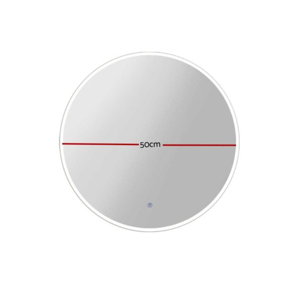 MM WALL ROU LED 50 01 600x600 - Embellir LED Wall Mirror Bathroom Mirrors With Light Decorative 50CM Round