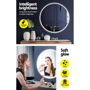 MM WALL ROU LED 50 04 300x300 - Embellir LED Wall Mirror Bathroom Mirrors With Light Decorative 50CM Round