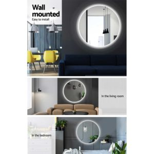 MM WALL ROU LED 50 05 300x300 - Embellir LED Wall Mirror Bathroom Mirrors With Light Decorative 50CM Round