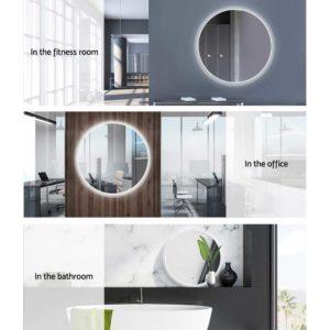 MM WALL ROU LED 50 06 300x300 - Embellir LED Wall Mirror Bathroom Mirrors With Light Decorative 50CM Round