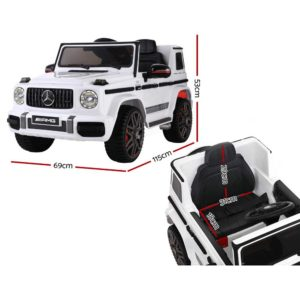 RCAR AMG63 WH 01 300x300 - Mercedes-Benz Kids Ride On Car Electric AMG G63 Licensed Remote Cars 12V White