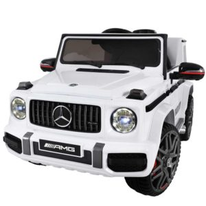 RCAR AMG63 WH 02 300x300 - Mercedes-Benz Kids Ride On Car Electric AMG G63 Licensed Remote Cars 12V White