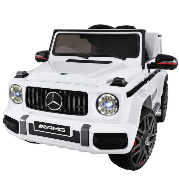 RCAR AMG63 WH 02 600x600 - Mercedes-Benz Kids Ride On Car Electric AMG G63 Licensed Remote Cars 12V White