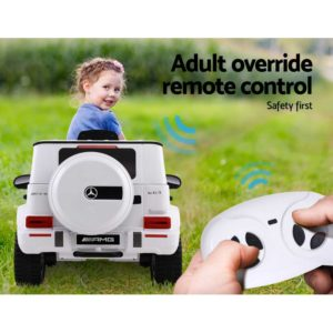 RCAR AMG63 WH 04 300x300 - Mercedes-Benz Kids Ride On Car Electric AMG G63 Licensed Remote Cars 12V White