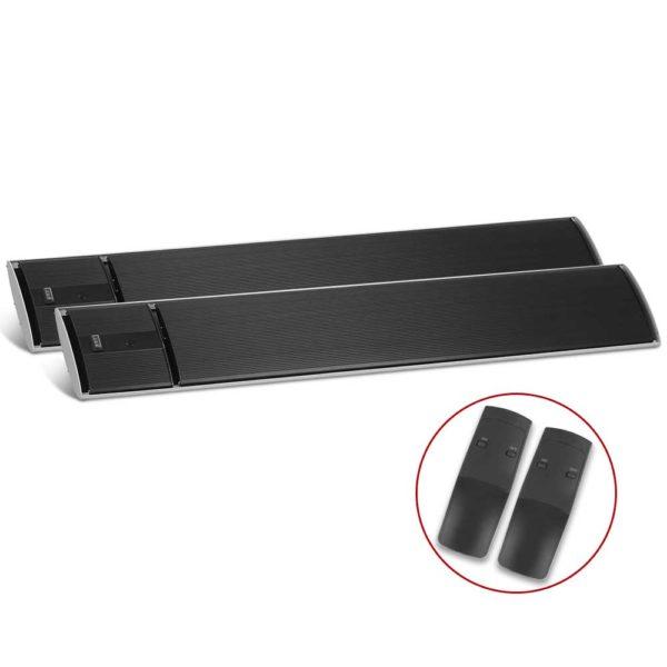 RHP RC 1800 BKX2 00 600x600 - Devanti 2X 1800W Electric Radiant Strip Heater Panel Outdoor Heat Bar Remote Control Black