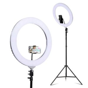 """RL FL 006 SI LV 00 300x300 - 19"""" LED Ring Light 6500K 5800LM Dimmable Diva With Stand Make Up Studio Video"""